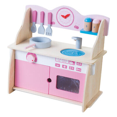 Creative Wooden Kids Kitchen Playset Gas Stove with Cookware Toy Best