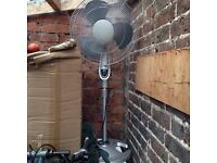 Floor standing pedestal fan great for the summer, free to someone who can use it