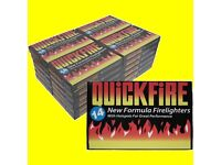 336 Fire Lighters 24 Packs of Quickfire Firelighters Bulk Pack Hotspots Burners Bulk NEW