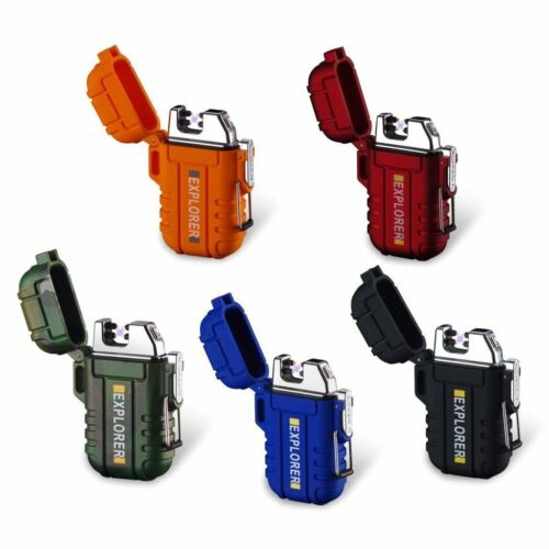 Dual Arc Plasma Electric USB Rechargeable Flameless Lighter Waterproof Windproof