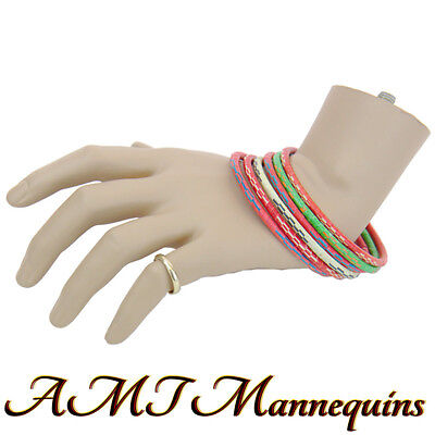 1 Female Mannequin Hand Display Jewelry Bracelet Ring Life Size S Left Hand -k