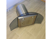 90cm Truly Curved Smoked Glass Curved Cooker Hood
