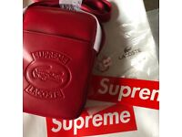 SUPREME X LACOSTE SHOULDER BAG - RED