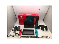 Nintendo Switch console boxed +Dock +2 additional joy cons