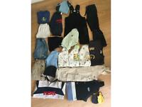 Bundle baby boys clothes 6-9 & 6-12 months inc Next, Adidas, Umbro.....