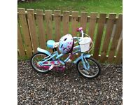 Girls Apollo Bike and helmet