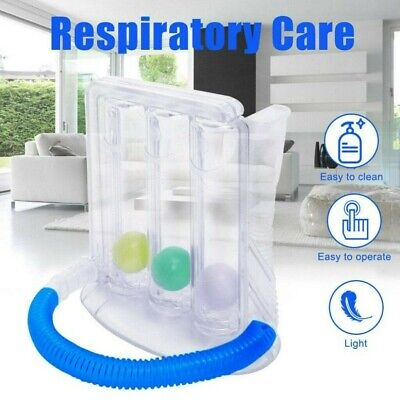 Breathing Lung Exerciser 3 Ball Spirometer Respiratory Therapy Deep Breath US