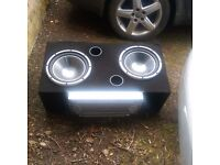 SUBWOOFER kenwood with amp american legacy 2400 watts
