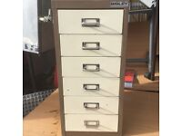 Bislay 6 drawer filing cabinet a4 size