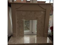 Fireplace Surround - Inc Marble Base - Beautiful Condition