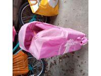 hauck pink travel cot
