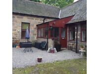 2 Bed cottage in excellent condition in rural location, Torphins