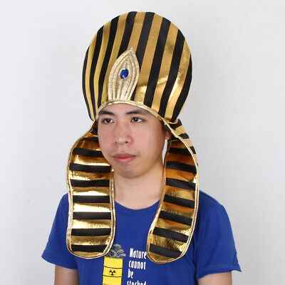Mens Womens Costume Hat Cosplay Party Egyptian Pharaoh King Caps Headpieces