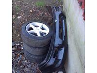 Ford Sierra parts ( front hatch bumper, gt wheels