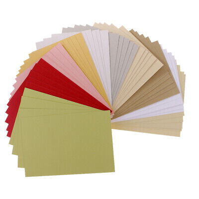 50 Sheets/Pack Specialty Cardstock for Paper Crafts Making Assorted Colours ()