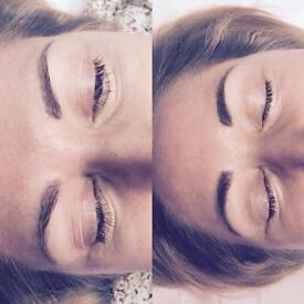 SPMU lip blush, hairstroke brows and eyeliner