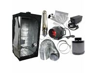 New Complete Set Hydroponic Grow Room Tent Fan Filter Light Kit 1.2m x 1.2m x 2m Opening Offer
