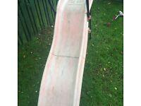 Free orange slide well used