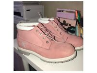 Genuine Pink Timberland Boots. |Size US.9.5 UK 7.5 | Perfect Condition||