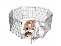 8 Panel Pet Play Pen Dog Puppy Animal Rabbit Large Cage Run Folding Garden Fence