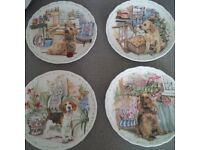 Royal Albert Bone China, NO.1-4 in a series of plates from the mans best friend collection 1989 MINT