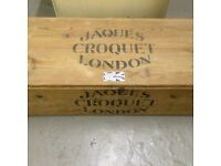 Full size boxed garden croquet set, mades by Jacques