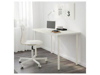 Super study desk Ikea linnmon/adils 120cm x 60cm table, great condition, legs are height adjustable