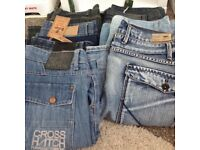 7 pairs men's jeans