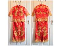 Qun Kwa (Traditonal Chinese Bridal Skirt Suit)