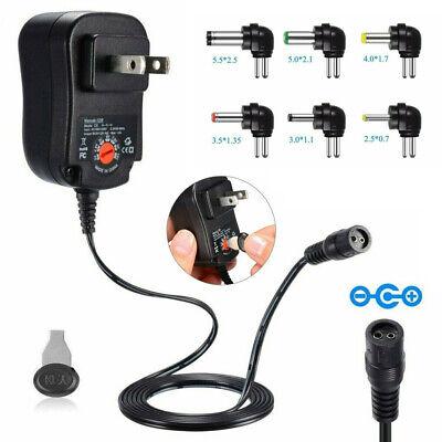 12w Universal Adjustable Acdc Power Adapter 6v 9v 12v Power Supply Plug Charger