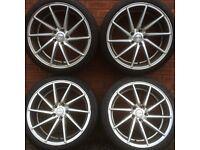 Vossen rotational 19 alloy wheels & tyres C E Class Mercedes also vw Audi Seat Skoda alloys rims 18