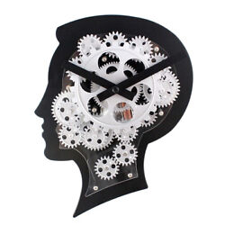 Creative Brain Design Gear Wall Clock Large Wall Clock for Home Office Decor