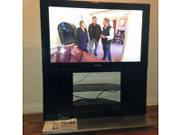 """Panasonic Viera 42"""" TH-42PZ700 Full HD TV with stand, remote and manuals"""