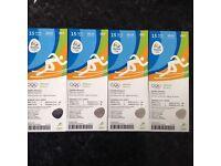 4x Rio Olympic athletics tickets 15/8/16