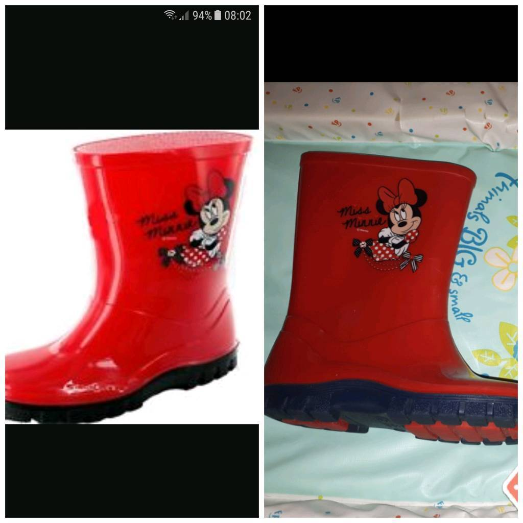 Minnie mouse wellies boots size 11 immaculate used once
