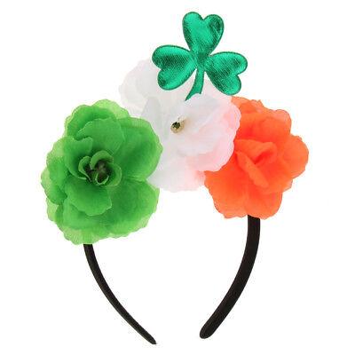 Green Shamrock Headband Saint Patrick Day Irish Pride Day Parade Dress Up