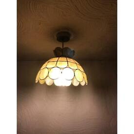 Vintage shell lampshades in good condition x2