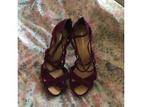 Stunning purple brand new high heel Karen Millen shoes