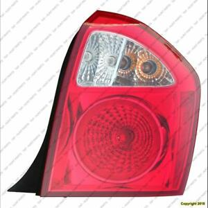 Tail Light Passenger Side Hatchback Kia Spectra 2005-2009