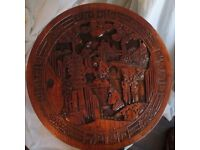 Hand carved chinese folding table
