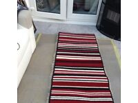 Red, Black, beige Strip Runner carpet