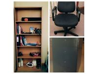 Bookcase/office chair/Office Drawers