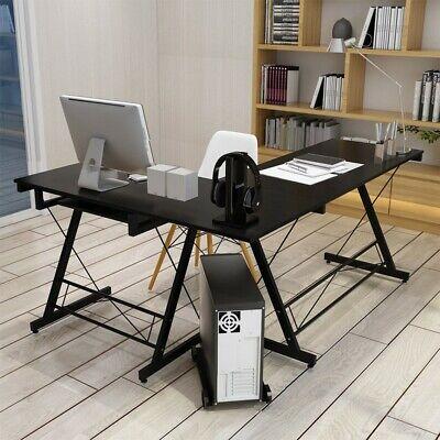 L-shaped Corner Computer Desk Wood Pc Laptop Table Workstation Home Office Desk