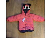 Micky mouse girls winter coat
