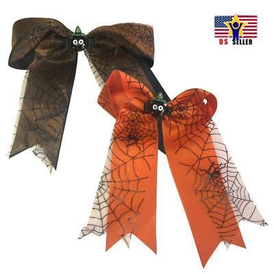 Halloween Costume Cute Spider Ghost Hat Ribbon Bow Hair Clip Pins Accessaries