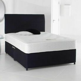 🔵SPRING SALE ON🔴DOUBLE AND KING SIZE DIVAN BED BASE WITH OPTIONAL MATTRESS & HEADBOARD