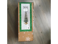 4ft Artificial Snowy Christmas Tree + Decorations