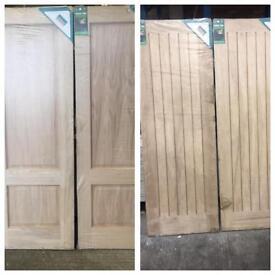 x4 Oak Doors, x2 Two Panel, x2 Oak Yoxall (686mm wide)