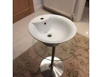 Porcelain top sink