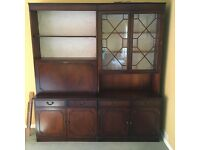 Mahogany effect display cabinet / dresser - FREE